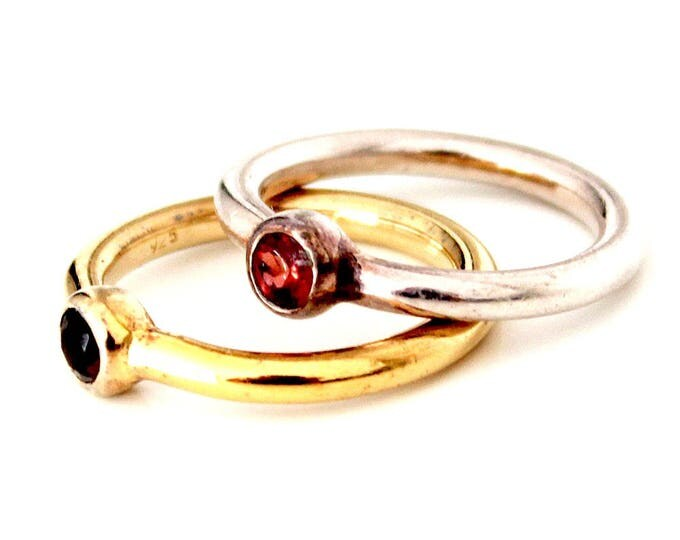 ring with a quartz - 2 colors