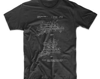 Black Powder Rifle Scope Patent T Shirt, Gun Enthusiast, Rifle, Hunting Shirt, Hunter Gift, Gun Shirt, PP0740