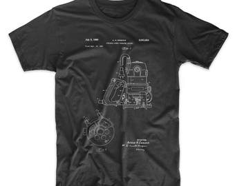 Hand Router Patent T Shirt, Woodworking Tools, Unique Gifts for Dad, Garage Shirt, Man Gift, PP0997