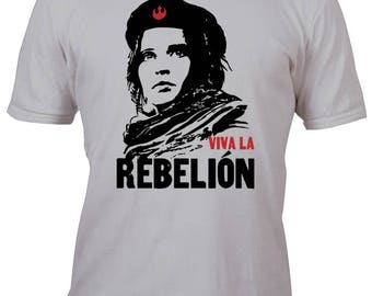 Rare Performance Silver Red Viva La Rebellion Rogue One Shirt All sizes up to Plus 5x