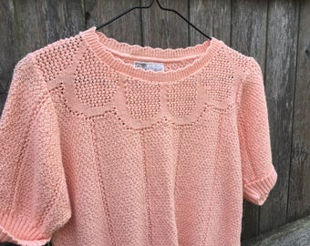 Peach Knit Top