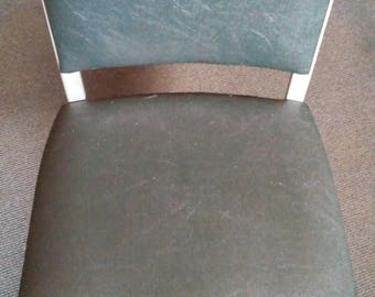 Mid Century Modern Chair - Steel with Casters