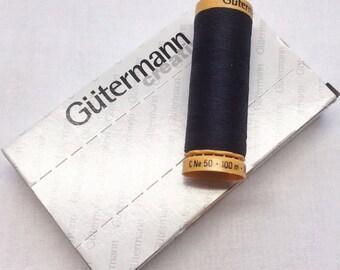 Box Black 5201 100m x 5 reel Natural Cotton C Ne 50 Gutermann Creativ Thread