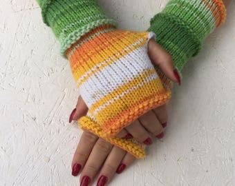 women  Fingerless gloves Mittens Long Arm Warmers Boho Glove Women Fingerless Wrist long arm warmers Ready to ship!