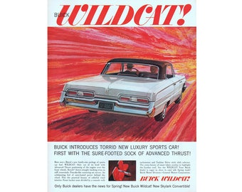 vintage poster advertisement of a 1962 Buick Wildcat - 35