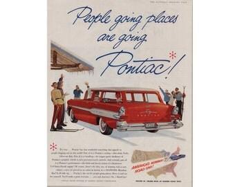 Vintage poster advertisement of a 1957 Pontiac Safari ---- 47