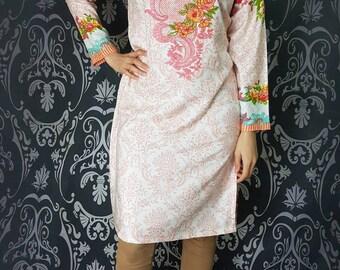 Tunic Indian dress Pakistani dress Pakistani clothing Indian suit anarkali Salwar Kameez Saree pakistani designer anarkali Kurta