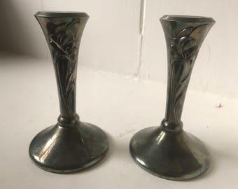 Oneida silver candlesticks
