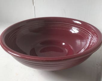 Fiesta ware maroon serving bowl