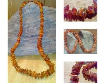 Vintage Semi Polished  Balti Amber Necklace