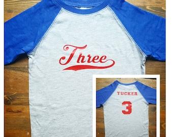 98d7bc39 Boys 3rd Birthday Shirt - Baseball Birthday Shirt - Baseball 3rd Birthday  Shirt Boy - Third