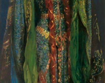 JOHN SINGER SARGENT - 'Ellen Terry as Lady Macbeth' - original archival quality print - large (Curwen Press, London. Pre-Raphaelite art)
