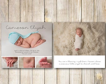 SALE BIRTH ANNOUNCEMENT, Baby Announcement, You Print, Digital Pdf, Jpeg