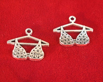 "BULK! 15pc ""bra"" charms in antique silver style (BC1261B)"
