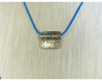 Silver Square Flower Pendant