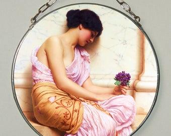 John William Godward.Violets,violets sweet, Stained glass, Vacation until 18. September