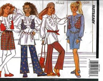 Butterick 6925   Girl's Vest, Dress, Top and Pants   Size 7-10    Uncut
