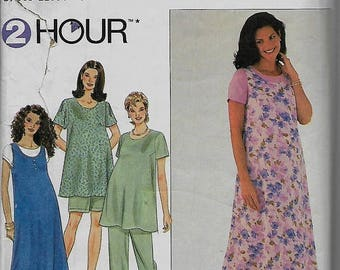 25% OFF Simplicity  8589  Misses Maternity Dress, Top, Jumper, Pants and Shorts       Size 12,14,16