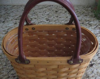 Longaberger Purse 2001 / Classic Weave