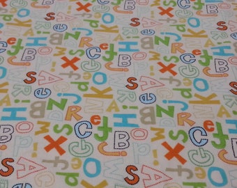 Baby & Toddler  Cotton and Minky Blanket * Letters