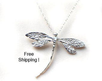 Sterling Silver Butterfly Necklace, Mothers Day Gift, Filigree Butterfly Pendant, Simple, Dainty, Pretty Jewelry