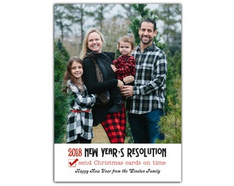 Funny New Years Card // Late Christmas Card Funny // Holiday Card Humor // 5x7 Printable Photo New Years Card // The Winston