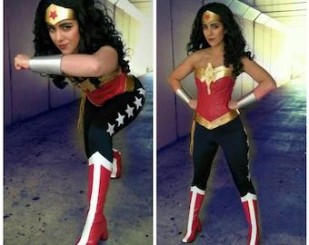 Wonder Superhero Woman PANTS NAVY with 5 white stars