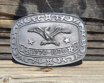 Bicentennial Eagle Belt Buckle by Celebrity 1776-1976