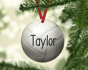 Volleyball Ornament, Volleyball Name Ornament, Volleyball Christmas Ornament, Volleyball, Personalized, Volleyball Player, Volleyball Gift