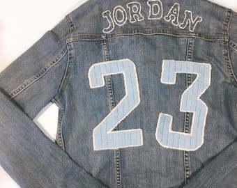 Jean Jacket Jersey: Custom Hand Painted or Embroidered