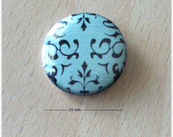 "badge 25 mm ""green"" arabesques"