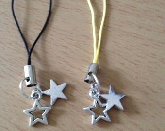 Star zip charm,star phone charm, star bag charm, star cell phone charm