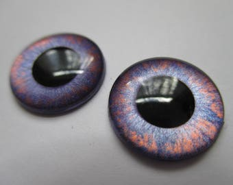 OOAK Blythe doll hand painted pair of eye chips (no.311)