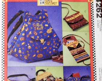 McCall's 4262 Bags and accessories pattern - fanny pack, eyeglass case, purse and coin/card purse Uncut