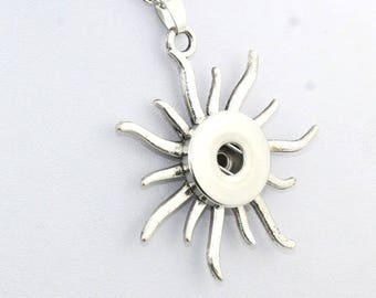 Sun necklace for snap button