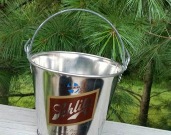 SCHLITZ Metal Beer Pail Collectible Advertising