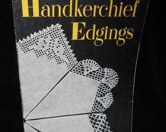 Crochet Tatting pattern booklet Handkerchief Edgings Star book 61 Vintage 1948 American Thread Company