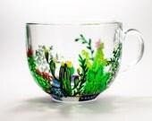 Cactus Mug, Cactus Wedding Favor, Gardening Gift Succulent Mug