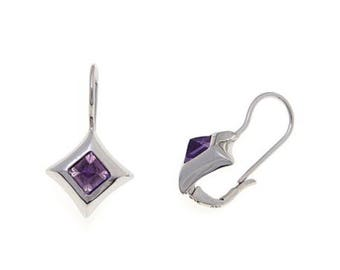 Day or Night! 1.05ctw Amethyst Sterling Silver Leverback Earrings