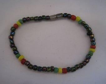 "6"" Multicolored Beaded Bracelet"