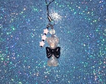 Creep Cute Sparkle Bone Zipper/ Cell Phone Charm