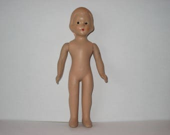 "Vintage composition doll - 7"" tall"