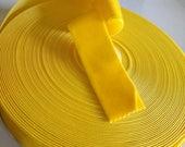 Mustard Yellow Velvet Rib...