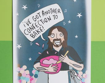 Foo Fighters - I've got another confection to bake - Dave Grohl - GBBO - Baking - signed A4 Print - Katie Abey