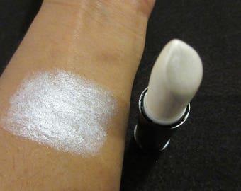 Shimmery White lipstick