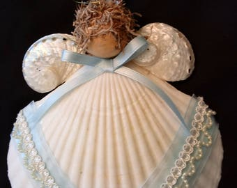 Scallop Shell Angel - Shell Ornament - FREE SHIPPING