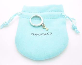Tiffany & Co. 18K Yellow Gold Key Dangle Ring Size 5 1/2