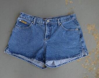 90s High Waisted Mom Shorts, Denim Jean Shorts, Retro High Waisted Shorts, Womens Size 11 Shorts Vintage Blue Asphalt Jean Shorts, 90s Denim