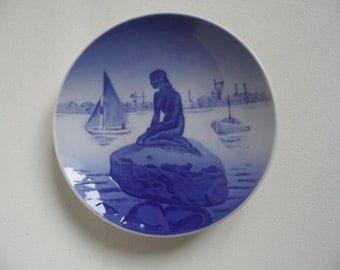 Royal Copenhagen porcelain wall plate from Denmark,little mermaid,collectible plate