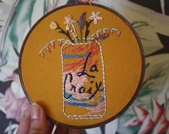 Pamplemousse La Croix Embroidery with Flower Detail